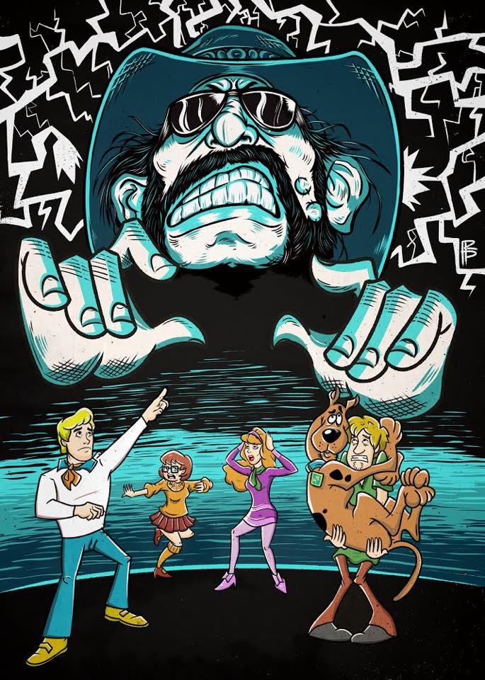 Lemmy (Motörhead) & Scooby Doo